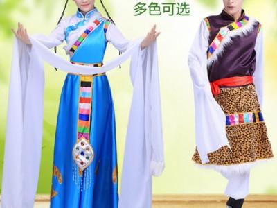 新款成人男女西藏舞蹈演出服装