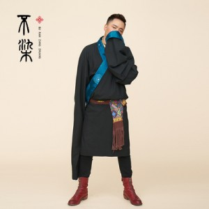 藏式藏装西藏安多藏族