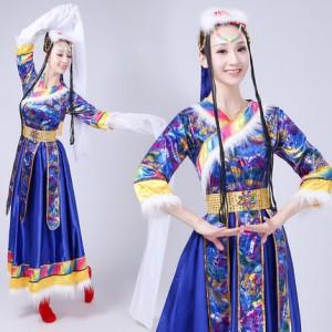 藏族水袖舞蹈演出服装