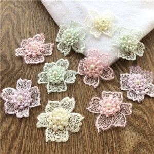 欧根纱刺绣花朵DIY手工服装辅料