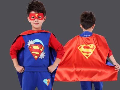 超人衣服男童套装新款潮小孩