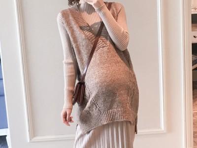 孕妇装2018秋装新款连衣裙两件套
