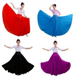 雪纺新疆舞蹈练习裙